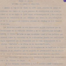 Catálogos y Libros de Monedas: AÑO 1938 AVISO BANCO ESPAÑA DE CANJE DE BILLETES ANTERIORES A 18 JULIO 1936 CASTELLON * GUERRA CIVIL. Lote 25611065