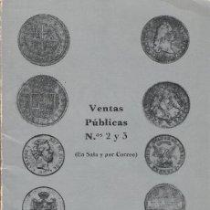 Catálogos y Libros de Monedas: VENTAS PUBLICAS NºS 2 Y 3 - BOLSA NUMISMATICA. Lote 26290939