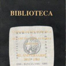 Catálogos y Libros de Monedas: BARCELONA GACETA NUMISMATICA BIBLIOTECA DE ANE. Lote 11576791