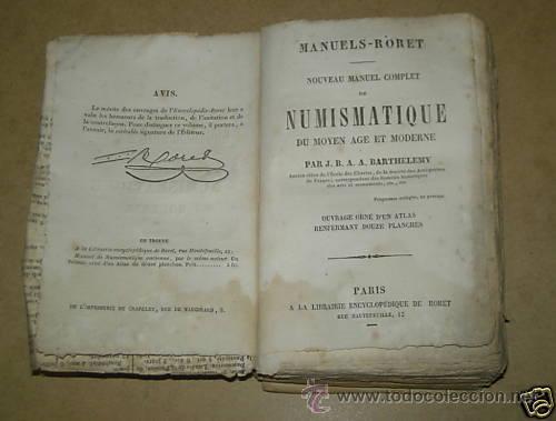 Catálogos y Libros de Monedas: NUmismática. BARTHELEMY NUMISMATIQUE SUEDE ESPAGNE ITALIE RORET 1836 - Foto 2 - 27384594