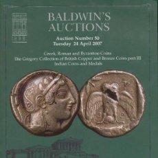 Catálogos y Libros de Monedas: CATÁLOGO SUBASTA BALDWIN'S, LONDRES 24 ABRIL 2007 + CATÁLOGO PLIEGO SUBASTA 42. Lote 17496454