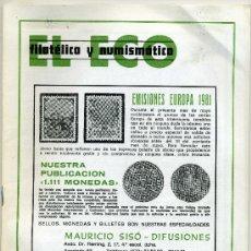 Catálogos y Libros de Monedas: REVISTA DEL ECO FILATÉLICO Y NUMISMÁTICO MAYO 1981 Nº 790 ( REBAJADO ) . Lote 19366950