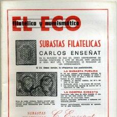 Catálogos y Libros de Monedas: REVISTA DEL ECO FILATÉLICO Y NUMISMÁTICO, 20 MAYO 1981 Nº 791 ( REBAJADO ). Lote 19366952