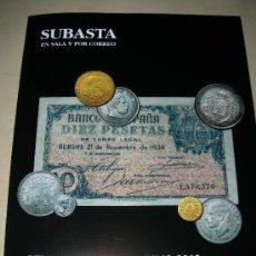 Catálogos y Libros de Monedas: CATALOGO DE SUBASTAS PLIEGO JULIO 2010.. Lote 131005823