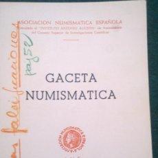Catálogos y Libros de Monedas: ANE - GACETA NUMISMATICA Nº 12 MARZO-1969. Lote 27454818