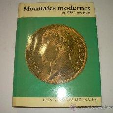 Catálogos y Libros de Monedas: MONNAIES MODERNES DE..1.789 A 1.972. Lote 21231178