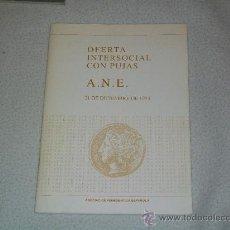 Catálogos y Libros de Monedas: CATALOGO NUMISMÁTICA - ASOCIACIÓN NUMISMÁTICA ESPAÑOLA - DICIEMBRE 1993. Lote 27545153