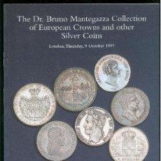 Catálogos y Libros de Monedas: CATALOGO DE MONEDAS. SPINK 1997. DR. BRUNO MANTEGAZZA COLLECTION. CON PRECIOS REALIZADOS. . Lote 28032548
