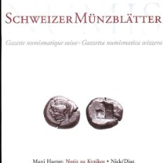 Catálogos y Libros de Monedas: GAZETTE NUMISMATIQUE SUISSE - GAZZETTA NUMISMATICA SVIZZERA. Lote 28076325