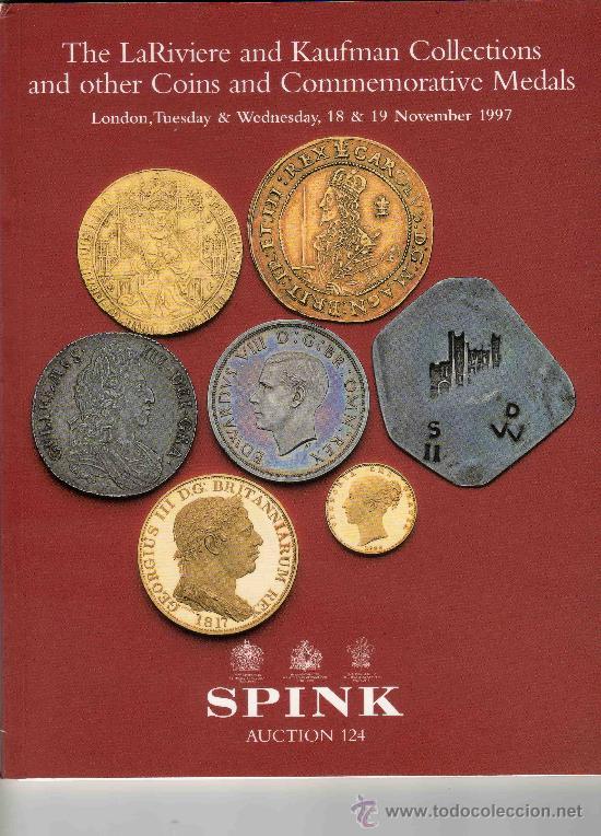 CATALOGO DE MONEDAS SPINK. AÑO 1997. COLECCIONES DE LARIVIERE Y KAUFMAN. DENTRO LISTADO DE PRECIOS. (Numismática - Catálogos y Libros)