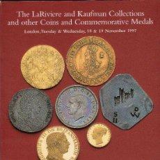 Catálogos y Libros de Monedas - CATALOGO DE MONEDAS SPINK. AÑO 1997. COLECCIONES DE LARIVIERE Y KAUFMAN. DENTRO LISTADO DE PRECIOS. - 28120317