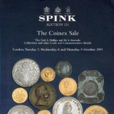 Catálogos y Libros de Monedas: CATALOGO SPINK DE MONEDAS. AÑO 1997. COLECCIONES DE NEIL S. PHILLIPS Y DR. AZEVEDO.. Lote 28121010