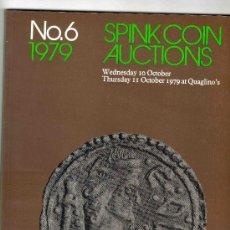 Catálogos y Libros de Monedas: CATALOGO DE MONEDAS SPINK. AÑO 1979. LISTA DE PRECIOS EN EL INTERIOR.. Lote 28122102