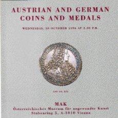 Catálogos y Libros de Monedas: CATALOGO DE MONEDAS SPINK. AÑO 1996. MEDALLAS Y MONEDAS AUSTRIACAS Y ALEMANAS. . Lote 28148269
