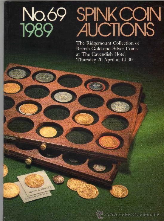 CATALOGO DE MONEDAS SPINK. AÑO 1989. (Numismática - Catálogos y Libros)