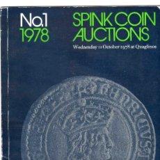Catálogos y Libros de Monedas: CATALOGO DE MONEDAS SPINK. AÑO 1978. LISTA DE PRECIOS EN EL INTERIOR.. Lote 28149991