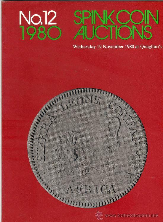CATALOGO DE MONEDAS SPINK. AÑO 1980. (Numismática - Catálogos y Libros)