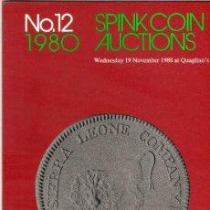 Catálogos y Libros de Monedas: CATALOGO DE MONEDAS SPINK. AÑO 1980. . Lote 28150412
