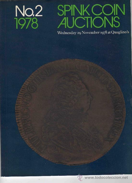CATALOGO DE MONEDAS SPINK. AÑO 1978. (Numismática - Catálogos y Libros)