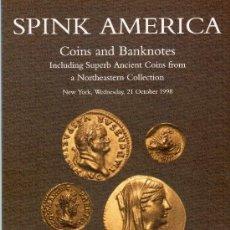 Catálogos y Libros de Monedas: CATALOGO DE MONEDAS Y BILLETES SPINK AMERICA. AÑO 1998. LISTA DE PRECIOS EN EL INTERIOR. Lote 42060003