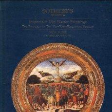 Catálogos e Livros de Moedas: CATALOGO DE SUBASTAS SOTHEBY´S. AÑO 1995. IMPORTANTES PINTURAS MAESTRAS. PRECIOS EN EL INTERIOR.. Lote 28180065