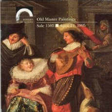 Catálogos e Livros de Moedas: CATALOGO DE SUBASTAS SOTHEBY´S. AÑO 1995. ANTIGUAS PINTURAS MAESTRAS. PRECIOS EN EL INTERIOR.. Lote 28186085