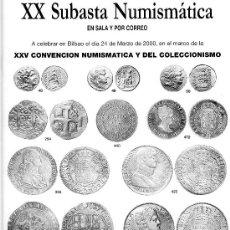 Catálogos y Libros de Monedas: CATALOGO DE SUBASTA NUMISMATICA LAVIN. AÑO 2000. XX SUBASTA NUMISMATICA.. Lote 28216966