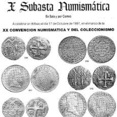 Catálogos y Libros de Monedas: CATALOGO DE SUBASTA NUMISMATICA LAVIN. AÑO 1997. I SUBASTA NUMISMATICA.. Lote 122617252