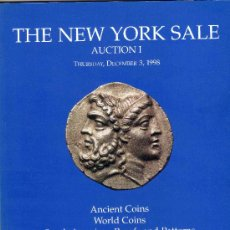 Catálogos y Libros de Monedas: CATALOGO DE SUBASTAS THE NEW YORK SALE. AÑO 1998. MONEDAS ANTIGUAS, DEL MUNDO.... Lote 28227963