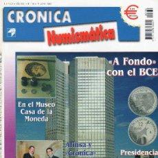 Catálogos y Libros de Monedas: REVISTA CRONICA NUMISMATICA. AÑO 2002. NUMERO 136.. Lote 28268727