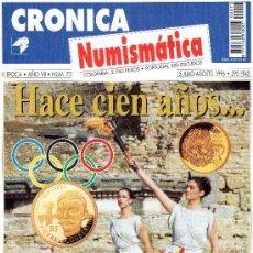 Catálogos y Libros de Monedas: REVISTA CRONICA NUMISMATICA. AÑO 1996. NUMERO 73.. Lote 28269444