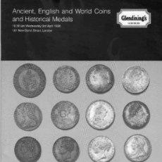 Catálogos y Libros de Monedas: CATALOGO DE SUBASTAS GLENDINING'S. MONEDAS INGLESAS Y EXTRANJERAS ANTIGUAS. AÑO 1996.. Lote 28327991