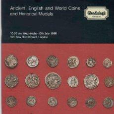 Catálogos y Libros de Monedas: CATALOGO DE SUBASTAS GLENDINING'S. MONEDAS ANTIGUAS INGLESAS, EXTRANJERAS...AÑO 1996.. Lote 28328211