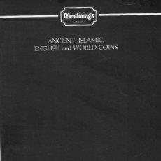 Catálogos y Libros de Monedas: CATALOGO DE SUBASTAS GLENDINING'S. MONEDAS ANTIGUAS ISLAMICAS, INGLESAS Y EXTRANJERAS. AÑO 1992.. Lote 28328221
