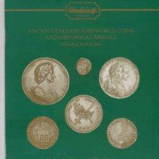 Catálogos y Libros de Monedas: CATALOGO DE SUBASTAS GLENDINING'S. MONEDAS ANTIGUAS, INGLESAS Y EXTRANJERAS. AÑO 1996.. Lote 28328229