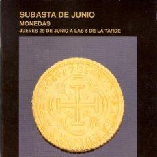 Catálogos y Libros de Monedas: SUBASTAS SEGRE. MONEDAS. CATÁLOGO DE SUBASTA. JUNIO 2006.. Lote 28449030