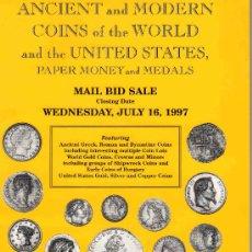 Catálogos y Libros de Monedas: CATALOGO DE MONEDAS COIN GALLERIES. AÑO 1997. LISTA DE PRECIOS REALIZADOS. . Lote 28351702