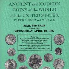 Catálogos y Libros de Monedas: CATALOGO DE MONEDAS COIN GALLERIES. AÑO 1997. LISTA DE PRECIOS REALIZADOS. . Lote 28352065