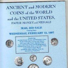 Catálogos y Libros de Monedas: CATALOGO DE MONEDAS COIN GALLERIES. AÑO 1997. LISTA DE PRECIOS REALIZADOS. . Lote 28352162