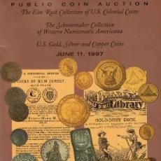 Catálogos y Libros de Monedas: CATALOGO DE MONEDAS SUBASTA PUBLICA STACK´S. AÑO 1997. PRECIOS REALIZADOS. . Lote 28400506