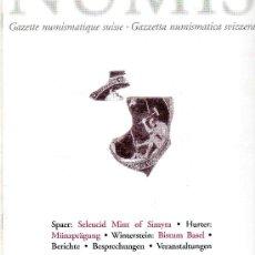 Catálogos y Libros de Monedas: GACETA NUMISMATICA SUIZA SCHWEIZER MÜNZBLÄTTER. AÑO 2003. . Lote 28405784