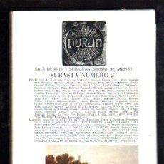 Catálogos y Libros de Monedas: DURAN. SUBASTA Nº 27. 1927. SALA DE ARTE Y SUBASTAS. LOTE Nº 14. FRANCISCO DOMINGO MARQUES. Lote 29523868