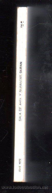 Catálogos y Libros de Monedas: DURAN. SUBASTA Nº 27. 1927. SALA DE ARTE Y SUBASTAS. LOTE Nº 14. FRANCISCO DOMINGO MARQUES - Foto 2 - 29523868