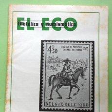 Catálogos y Libros de Monedas: EL ECO - FILATELIA Y NUMISMATICA - 20 MAYO DE 1973. Lote 30473870