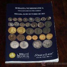 Catálogos y Libros de Monedas: CATALOGO SUBASTA NUMISMATICA MARTI HERVERA / SOLER Y LLACH. 26 DE OCTUBRE DE 2011.. Lote 30522427