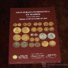Catálogos y Libros de Monedas: CATALOGO SUBASTA NUMISMATICA MARTI HERVERA / SOLER Y LLACH /SEGARRA. 23 OCTUBRE 2010.. Lote 30531092