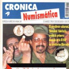 Catálogos y Libros de Monedas: CRÓNICA NUMISMÁTICA, II ÉPOCA, AÑO VII, Nº 69, 50 PÁGINAS, 21 POR 28CM. Lote 31078083