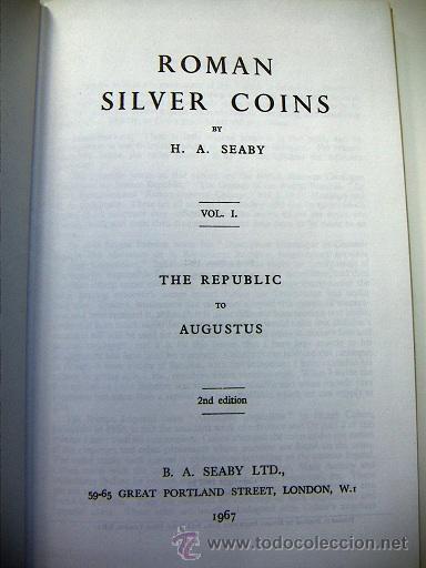 Catálogos y Libros de Monedas: Roman Silver Coins Seaby vol.1 - Foto 2 - 31656712