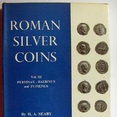 Catálogos y Libros de Monedas: ROMAN SILVER COINS SEABY VOL.3. Lote 31656784