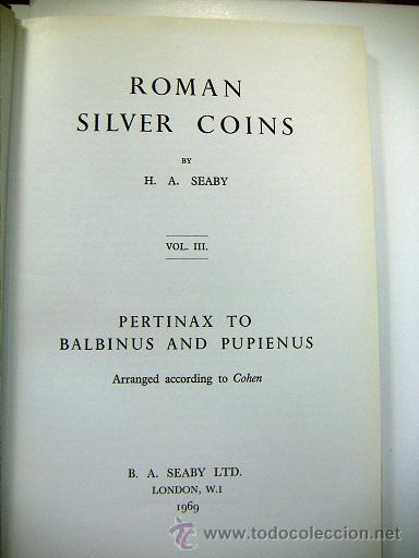 Catálogos y Libros de Monedas: Roman Silver Coins Seaby vol.3 - Foto 2 - 31656784